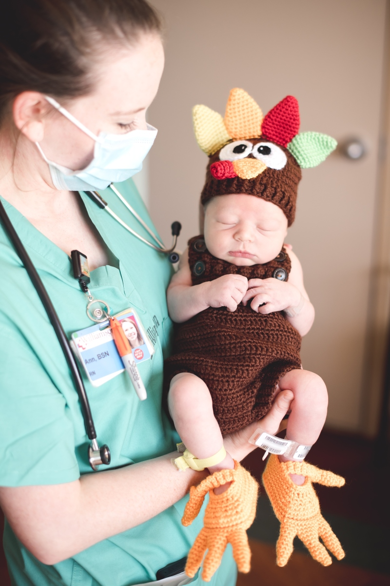 Williamson Medical OB Celebrates its Newest Turkey