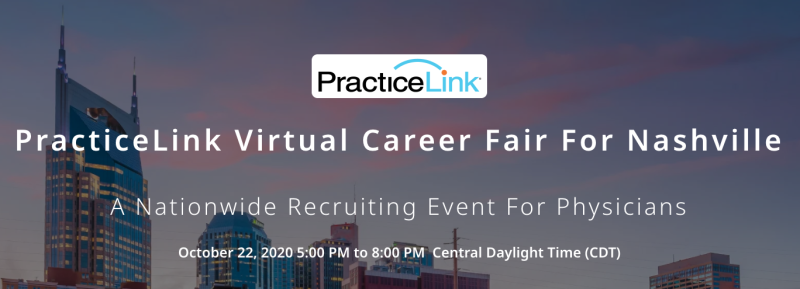 Free Virtual Career Fair for Nashville Physicians/APPs on October 22