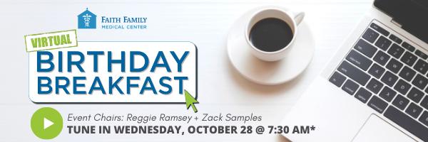 OCT. 28: FFMC's Virtual Birthday Breakfast!