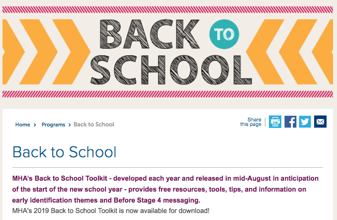 MHA Releases Back to School Toolkit for the 2019-2020 School Year
