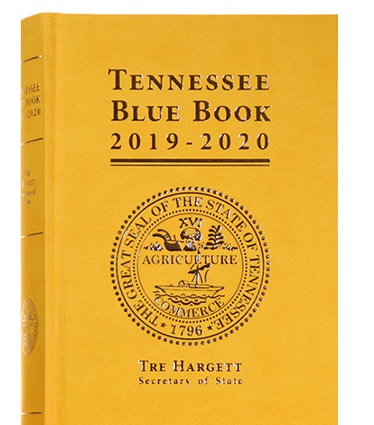 Tennessee Blue Book 2019-2020 Edition Honors Women's Suffrage
