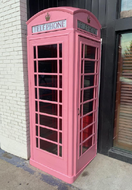 RED PHONE BOOTH GOES PINK